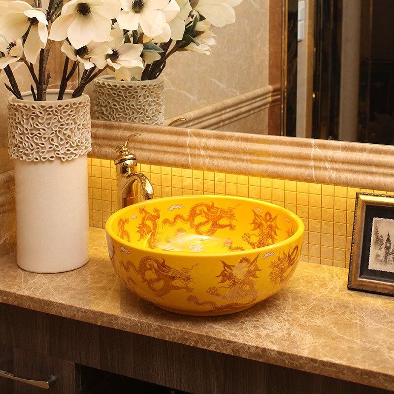 Chinese style quality art basin wash basin counter basin wash basin wash