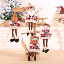 Christmas Tree Ornaments Decorations For Home Party New Year Gift Accessories Cute Cartoon Hanging Doll Decor
