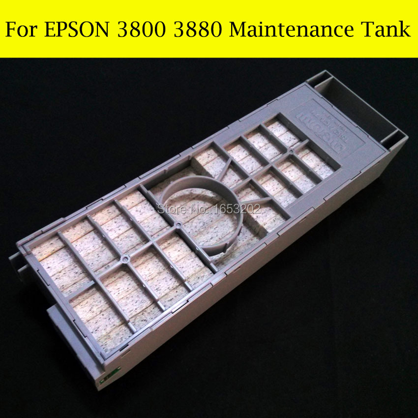 1 Piece Original Maintenance Tank For Epson Stylus Pro 3800 3880 Printer Waste Ink Tank 1 pc waste ink tank for epson sure color t3070 t5070 t7070 t5000 t3000 printer maintenance tank box