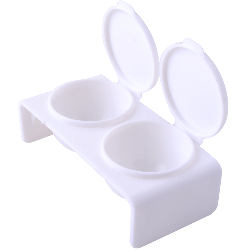 Purifying Stylish Store Belen White Nail Art Double Dappen Dish Case Acrylic Liquid Powder UV Gel Tips Tool