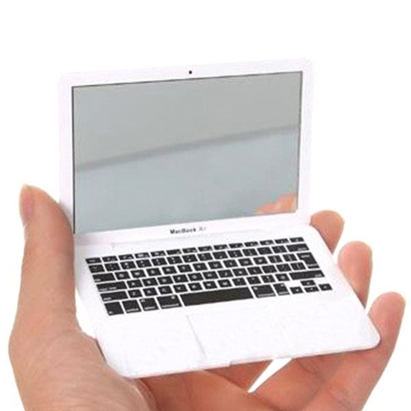Милый макияж мини карманный ноутбук стиль прозрачное стекло для женщин