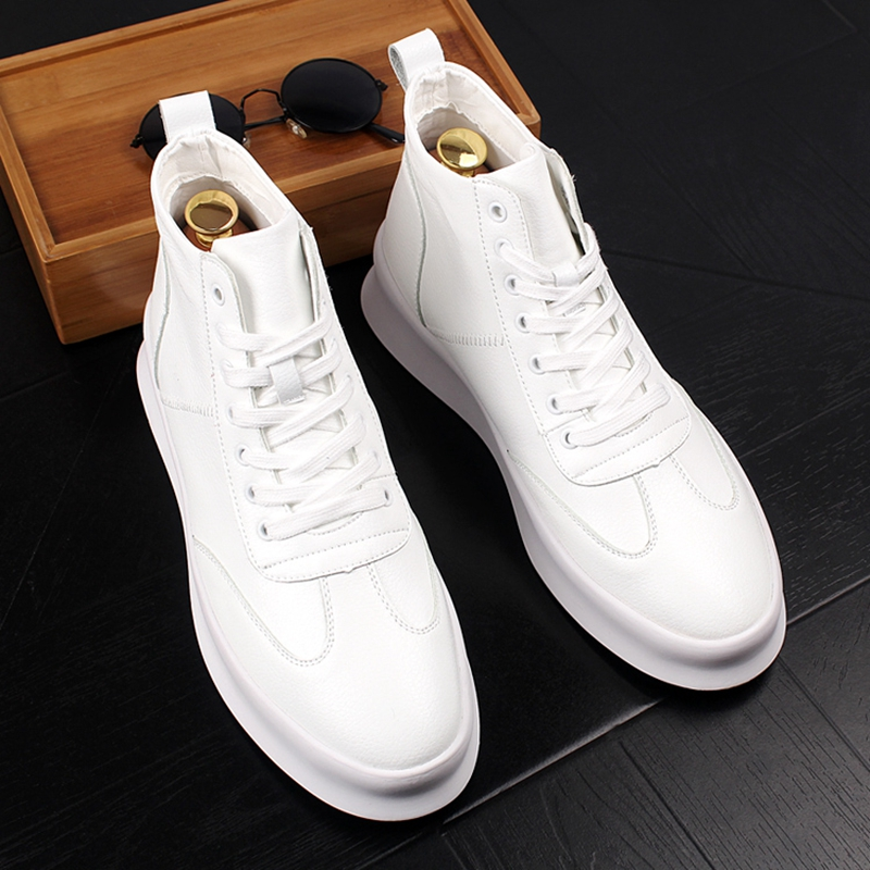 Stephoes 2020 New Luxury Brand Men Fashion High Top Sneakers Spring Autumn Casual High Shoes Men Leather Boots Microfiber Shoes