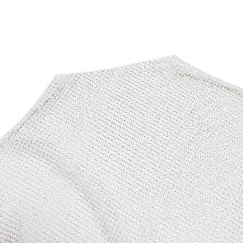 Damski kabaretki na szyję z długim rękawem przezroczysty T-shirt topy Hollow Out przezroczysta siateczka T-Shirt 5