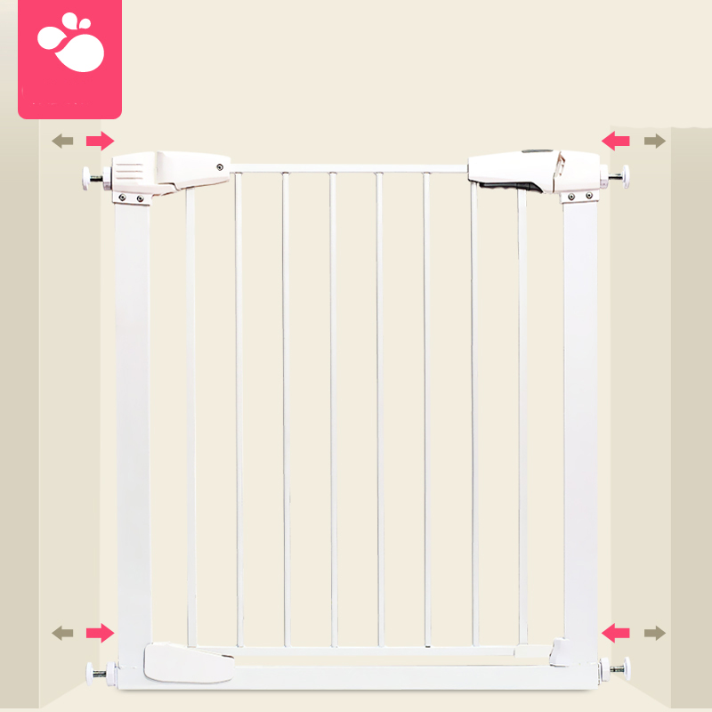 Iron Safety Gate Children Security Product Baby Safety Door Gate Use In Doorway Staircase 65-173cm Wide  Gate Free Installation