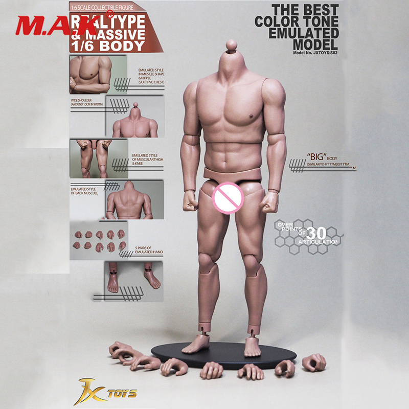 1/6 Scale Soldier Body S02 Strong Muscle Male Body 12 Soldiers Action Figure Toys 1 6 scale male action figure model toys super flexible seamless muscle body pl2016 m33 for collections