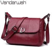 VANDERWAH NEW Flap Bags Handbags Women Famous Brands High Quality Shoulder Bag Fashion Letter Crossbody Bag