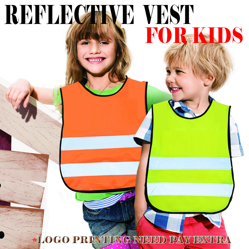 high visibility school pupil child children kids reflective safety traffic vest cycling biking running jogging vest waistcoat new style breathable mesh high visibility reflective traffic safety cycling vest printable words logo