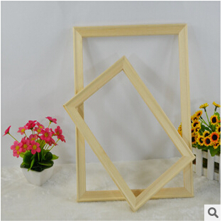 Suit for All kinds of diy oil painting Thick Pine wood frame wall painting picture frame Photo door Picture frames 1 pcs
