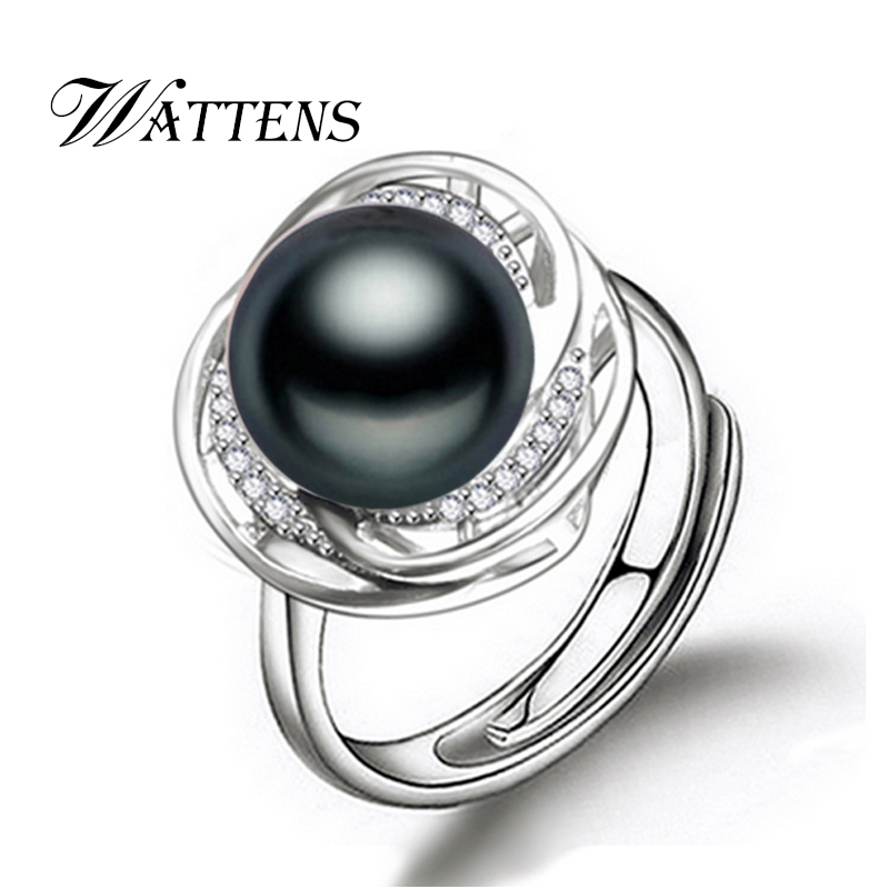 WATTENS alibaba express natural Pearl rings Drop Shape Natural Freshwater Pearl wedding ring for Women s
