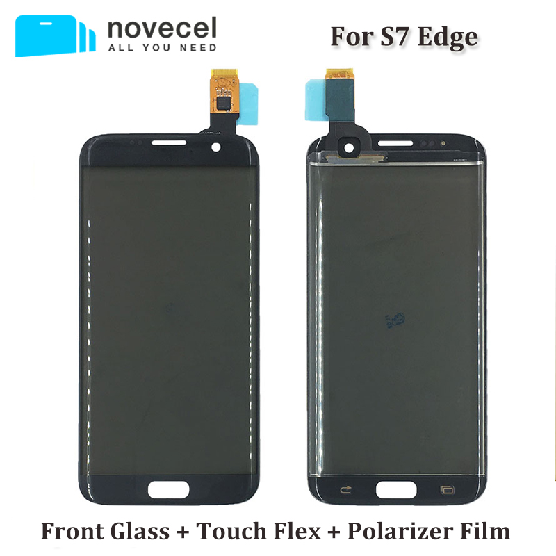 Novecel ORI G935F Front Glass + Touch panel + Polarizer Film Assembly For Samsung S7 Edge Touch Screen Digitizer's Replacement
