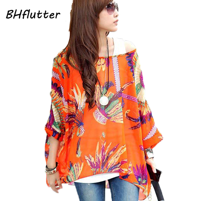 a511509b Moda 2015 de señora, blusa de gasa tallas grandes 4XL 5XL 6XL, vestidos para