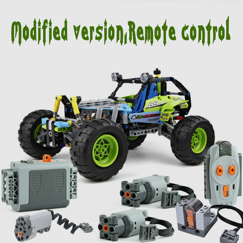 Lepining Technic RC TRACKED Building block <font><b>Car</b></font> Functions Servo Motor Polarity Switch IR Speed Remote Control <font><b>Battery</b></font> Box image