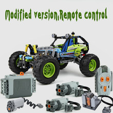 Technic RC TRACKED Building block Car Functions Servo Motor Polarity Switch IR Speed Remote Control Receiver Battery Box(China)
