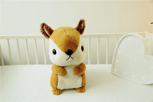 small plush squirrel toy stuffed brown squirrel doll birthday gift about 35cm