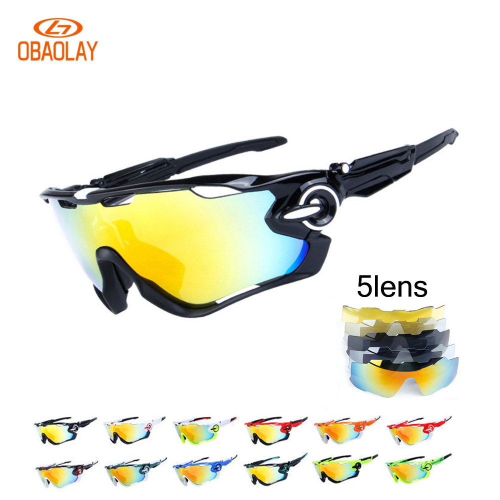 2017 Rushed Outdoor Cycling Sunglasses Polarized Bike Glasses 5 Lenses Mountain Bicycle Uv400 Tr90 Goggles Mtb Sports Eyewear coolchange professional 5 groups of lenses polarized sunglasses cycling glasses sports eyewear oculos de sol 4 colors