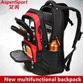 Aspensport Waterproof Laptop Backpack super big capacity Nylon 17 Inch Men Women Computer Bag Unique Quality business Laptop Bag