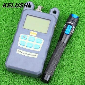 KELUSHI medidor de potencia de fibra óptica-70dBm ~ 10 dBm fibra óptica y 1 MW 5 km Visual localizador de fallas de fibra óptica Cable Tester