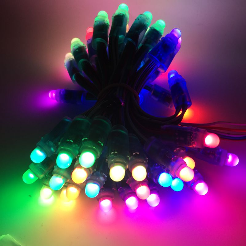 100Pcs/lot 12mm WS2811 2811 IC RGB LED Pixels Module String Light IP68 5V Holidays/Christmas/ Festival