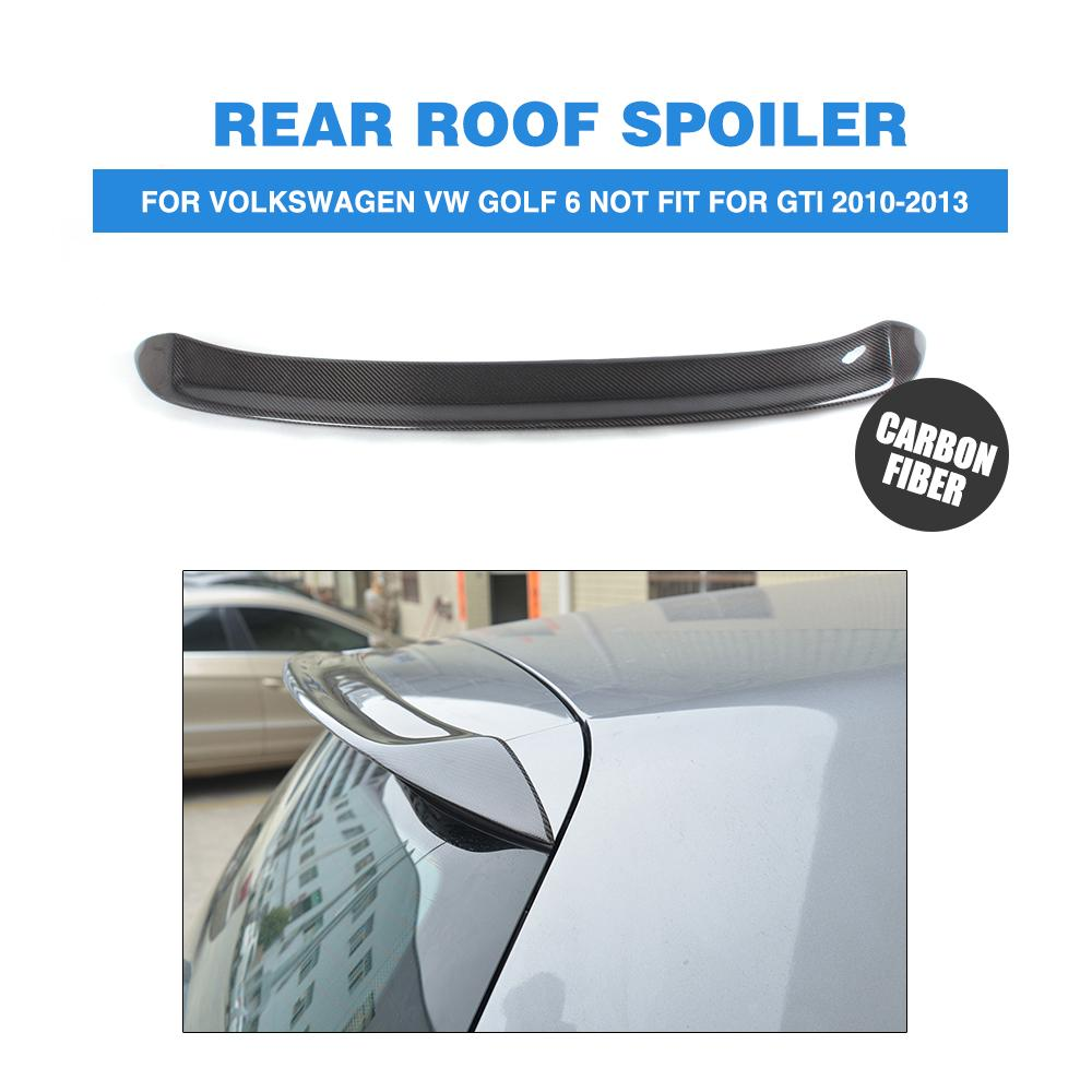Carbon Fiber O Style Rear Roof Spoiler Hatchback Window Wing For Volkswagen VW Golf 6 VI MK6 2010-2013 Not For GTI Car styling