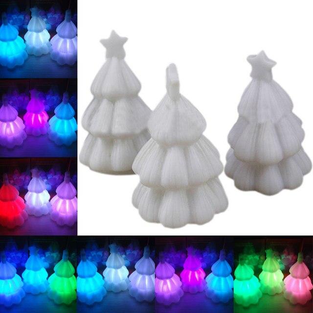 7 Farben Ändern Nachtlicht Mini LED Weihnachtsbaum Xmas Party ...