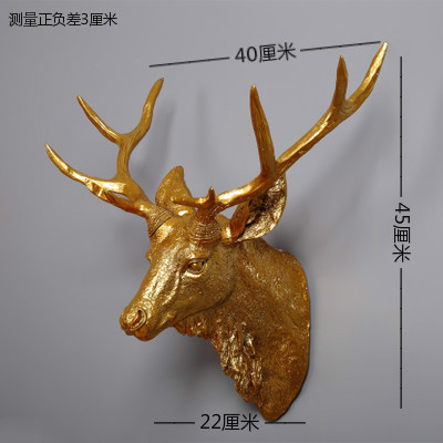 Dollhouse Miniature Deer Head Wall Decoration Refrigerator Magnet Clas craft statues Vintage Background wall sculpture Home dies - 2