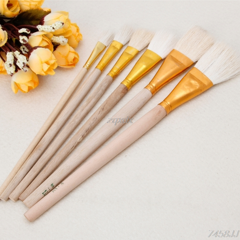 6Pcs/set Artist Paint Brushes Set Wool Hair Watercolor Acrylic Oil Painting Brush Kids Gift Painting Supplies Whosale&Dropship