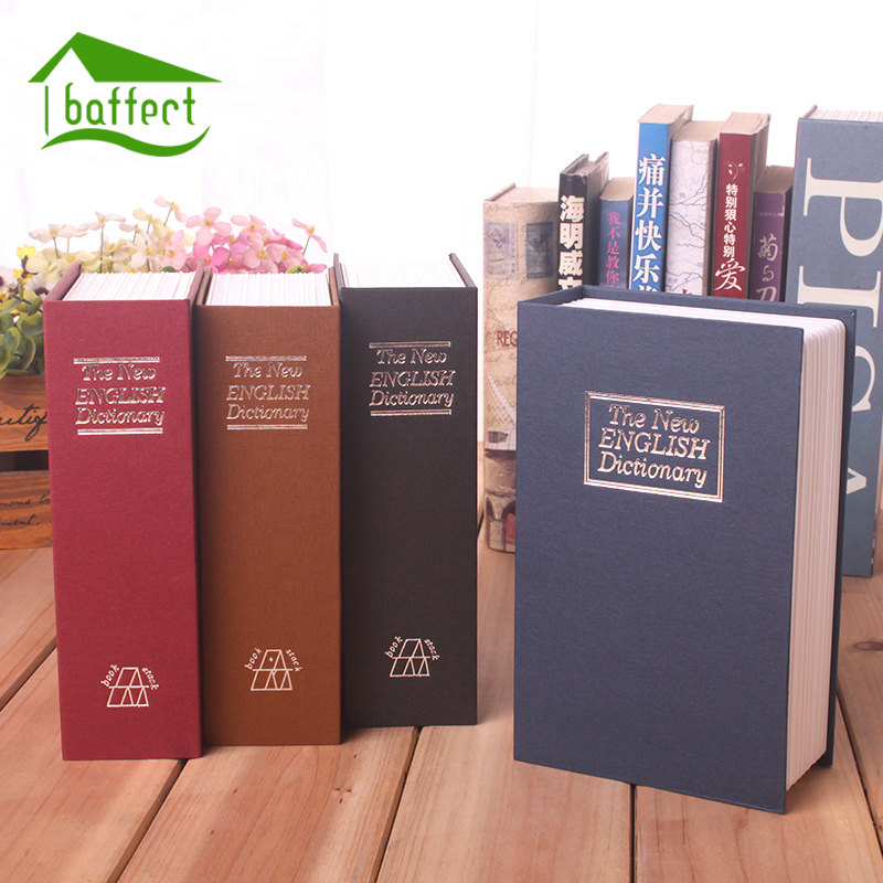 Home Security Simulation Dictionary Book Case Cash Money Jewelry Locker Secret Safe Storage Box With Key or Password Lock