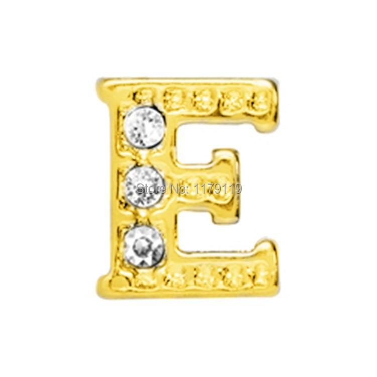 20pcs/lot New Items Gold Word Alphabet EFloating Charm Fit Memory Locket Pendant CMM#863(Free Shipping)