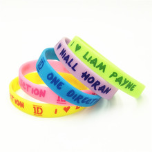 Silicone Wristband Rubber-Bracelets Payne One-Direction Bangles 1PC SH277 1D Candy-Color