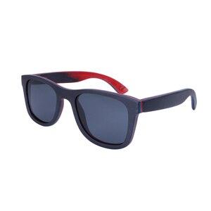 Image 2 - BerWer 2020 men wood Sunglasses New Polarized women black Skateboard Wood sunGlasses wooden Eyewear