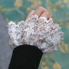 Fashion Joker Accessories wrist set trumpet cuff flounces buttoned sleeves lace Decorated Cuff Fake sleeves autumn and winter