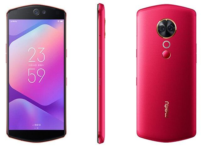 Meitu T9 4g LTE 6.01 Plein Écran Snapdragon 660 Octa base Android 8.1 QuickCharge D'empreintes Digitales Face Unlock Caméra mobile téléphone