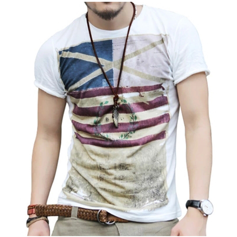 Plus Size 2017 New Mens Summer Tops Tees Short Sleeve T