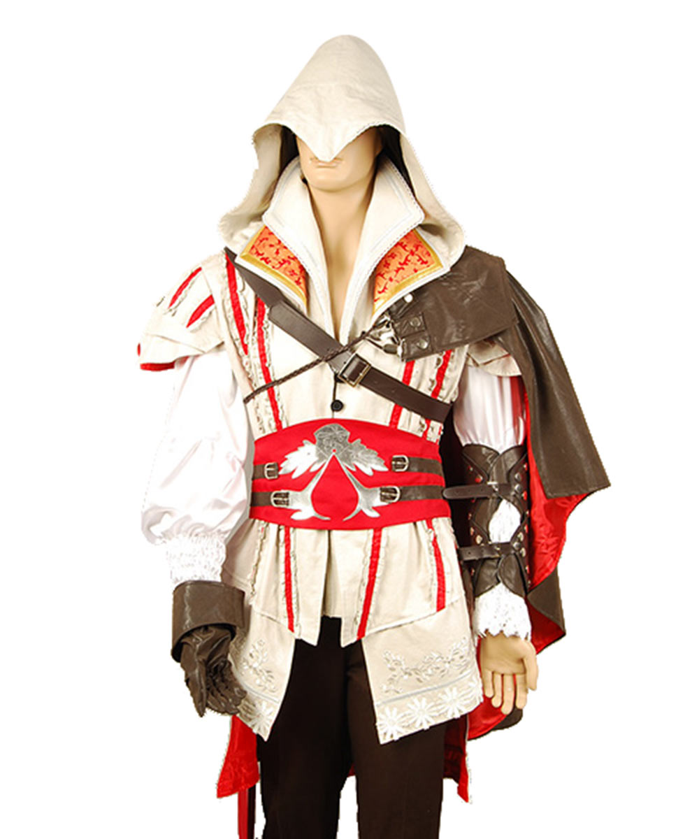 Ezio Auditore Cosplay Costume Halloween Carnival