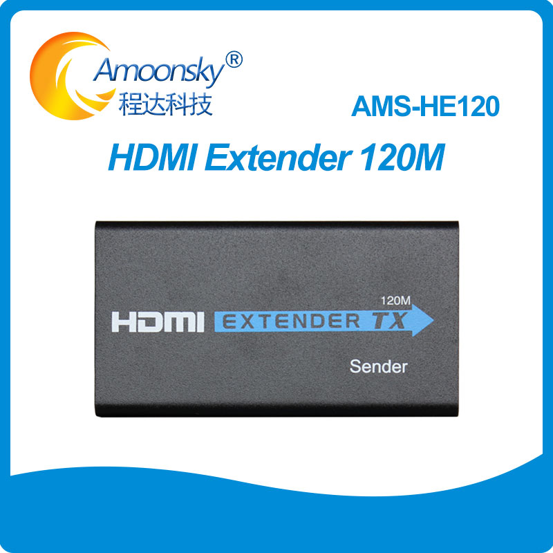 AMS HE120 HDMI extender splitter 120M over cat5e 6 cable up to 120M TCP IP 3D