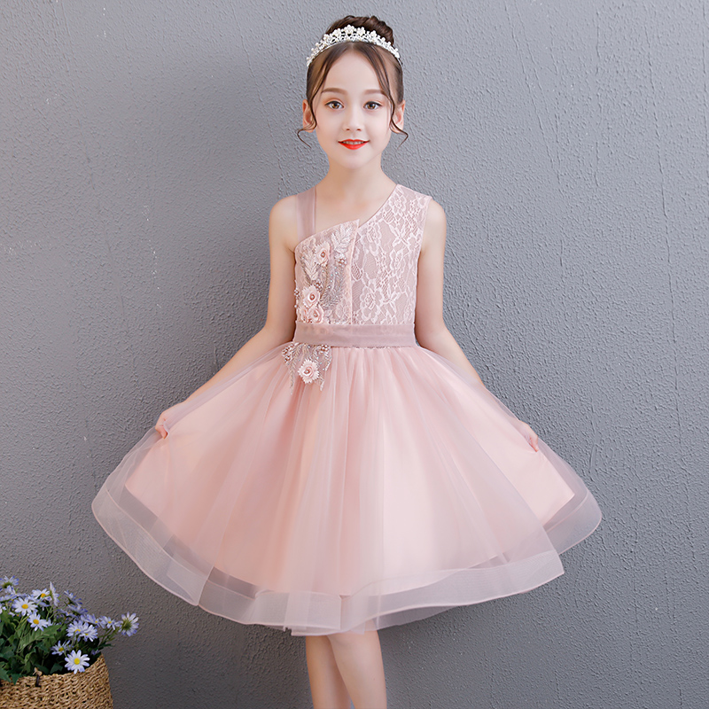 One Shoulder Flower Girl Dresses for Wedding Ball Gown Kids Pageant Dress for Birthday Costume Floral Princess Evening Dress цены