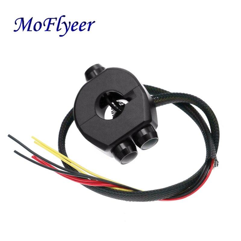 MoFlyeer 22mm Motorcycle Aluminum Alloy CNC Switches Handlebar Mount Switch Headlight Light Start Kill Horn Reset