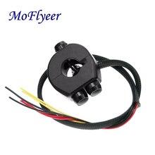 MoFlyeer 22 мм мотоциклетные алюминий сплав ЧПУ Настенные переключатели Руль управления для мотоциклов крепление переключатель фар