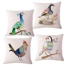 Elegant Peacock Bird Home Sofa Decorative Sofa Cushion Pillow Without  Filling Linen European Snal Chair Seat