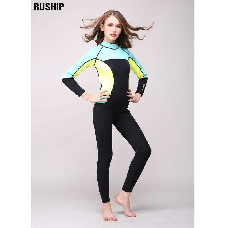 ФОТО Women 3mm Neoprene High quality Professional Thermal Scuba Diving Spearfishing One-piece Wetsuits Surfing Slim Full Bodysuit