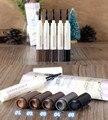 Crema Colorante ceja Impermeable Duradera Ceja Enhancer Pincel de Maquillaje maquillaje Herramienta de La Talladora de La Ceja Modelo Grooming Kit de la Plantilla