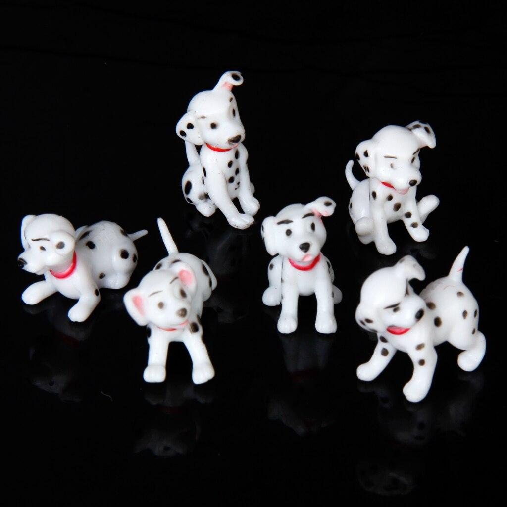 6 шт. кукольная Миниатюра пятнистая Товары для собак комплект для 1/12 Кукольный дом и сада симулировать Классические игрушки для детей креат...