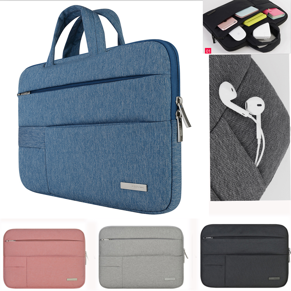 Laptop väska till Dell Asus Lenovo HP Acer handväskedator 11 12 13 14 15 tum för MacBook Air Pro Notebook 15,6 Sleeve Case