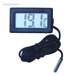 Новинка, Лидер продаж, 1 шт., 1 м, практичный мини термометр, бытовой измеритель температуры, цифровой ЖК-дисплей, кнопка, батарея в комплекте, ...
