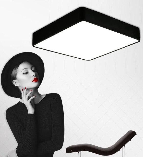 Us 272 32 Offnowoczesne Zdalnego Sterowania Do Montażu Na Suficie Lampy Kwadratowy Panel Led Białyczarny Do Oświetlenia łazienki Ac110 240v