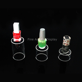 Desktop Clear Acrylic 3 Tube Jewelry Display Stand Small Items Holder With Open Bottom set mugs lefard 350 ml 7 items with stand