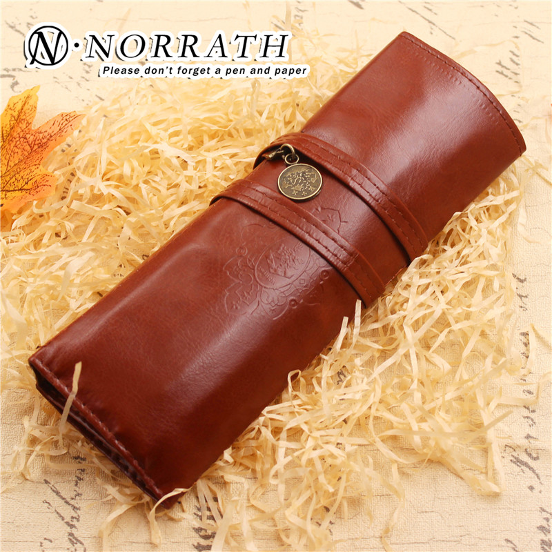 Creative Office School Stationery Retro Vintage Pencil Pen Case Cosmetic Pouch Pocket Brush Holder Makeup Bag