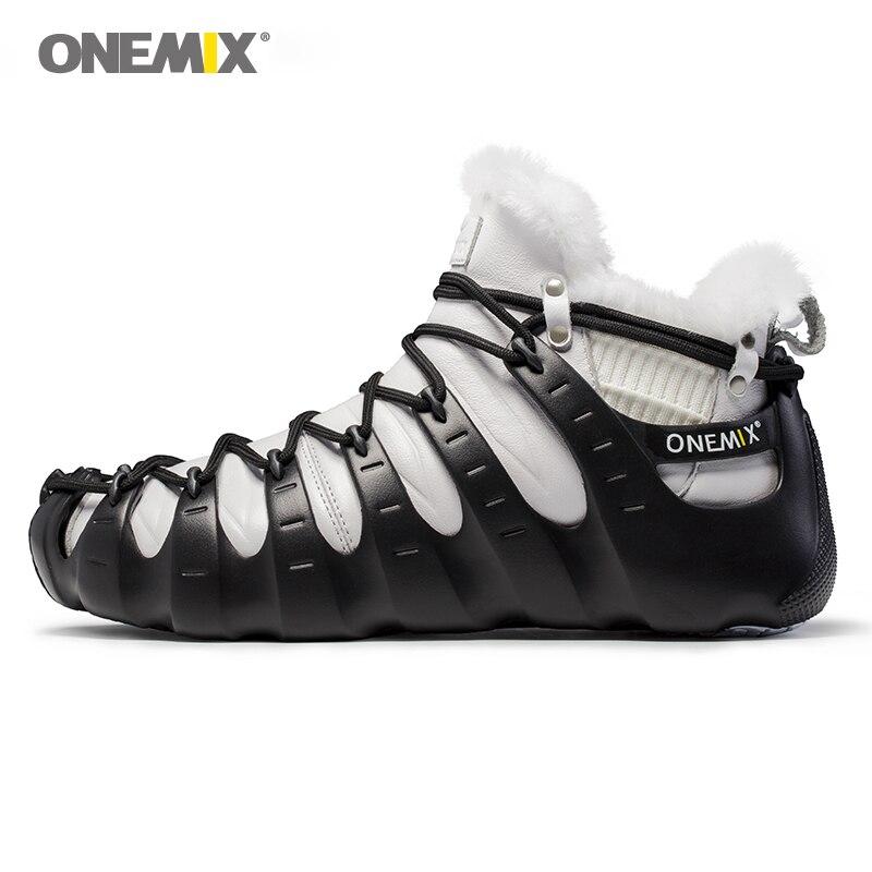 Image 2 - Hot Onemix Winter Mens Trekking Shoes Anti Slip Walking Shoes  Comfortable Warm Outdoor Sneakers For Women Winter Keeping  Shoessneakers for womensneakers outdoorsneakers sneakers
