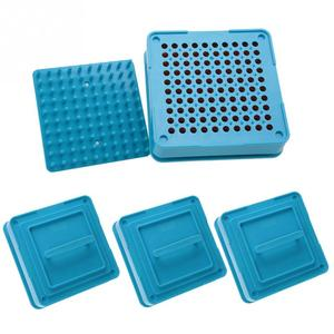 Image 2 - 4 Types 100 Holes Capsule Powder Maker 000# 00# 0# 1# Spreader Plates Manual Filling Capsules Machine Tool Blue