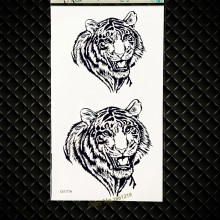 Long Lasting King Tiger head Temporary Tattoo Stickers Men Armband Body Art ARm Tattoo Stickers GGF376 Henna Black Tattoo Women(China)